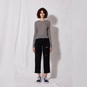 [TopShop] Distressed Raw Hem Jeans A5
